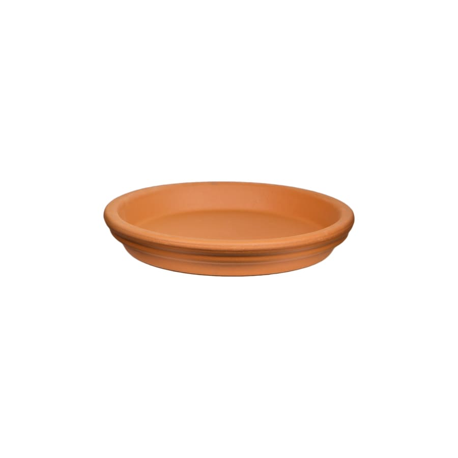 5.25-in Red/Pink Clay Plant Saucer