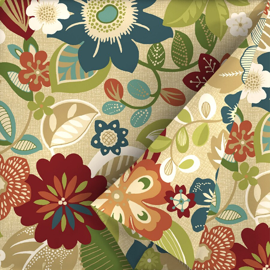 Garden Treasures 54-in W Bloomery Floral Outdoor Fabric (By-the-Yard)
