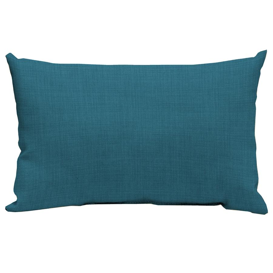 Garden Treasures Blue Flame Texture and Solid Rectangular Lumbar Pillow Outdoor Decorative Pillow