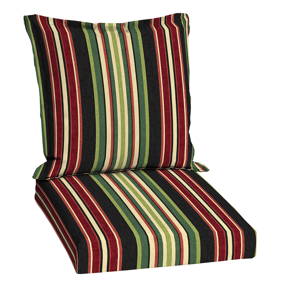 Garden Treasures Sanibel Black Stripe Cushion For Universal