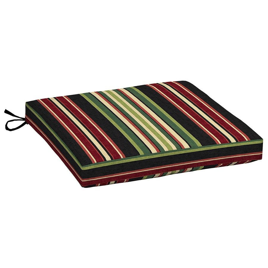 Garden Treasures Striped Sanibel Black Striped Universal Seat Pad