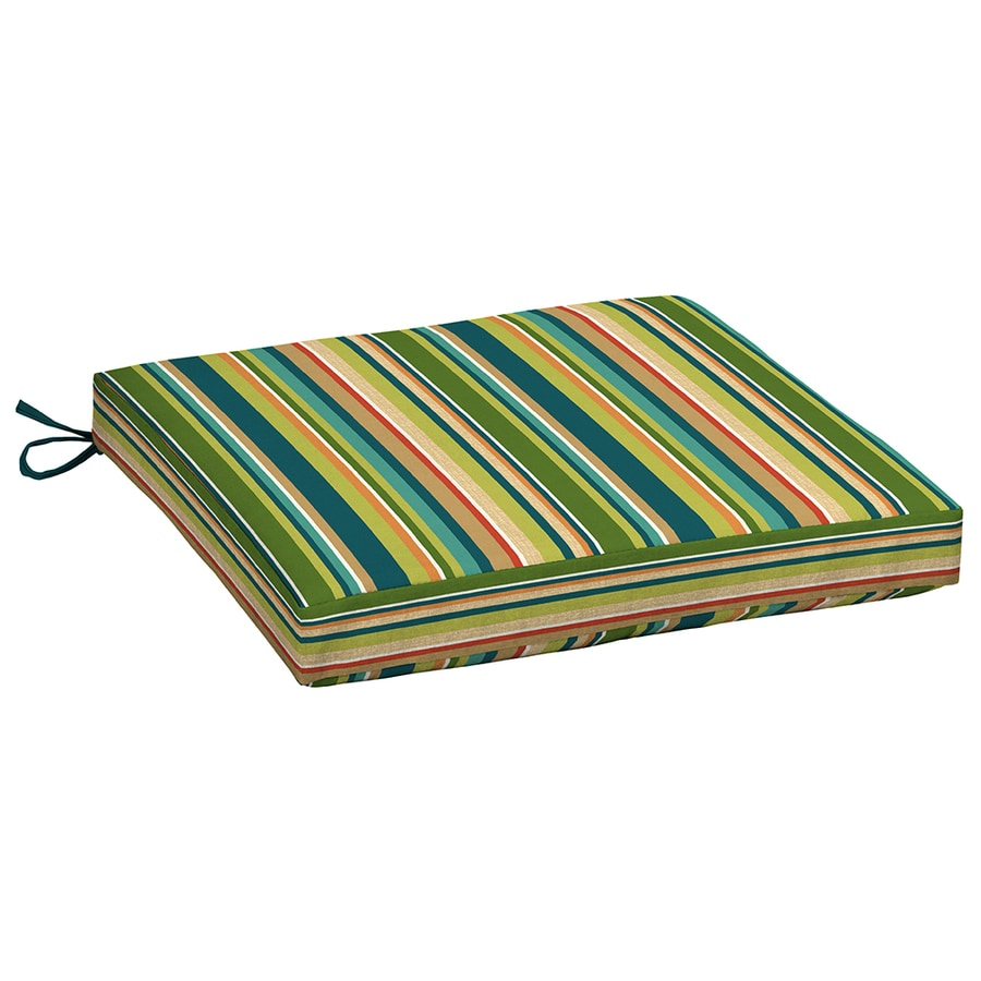 Garden Treasures Bloomery Stripe Seat Pad For Universal
