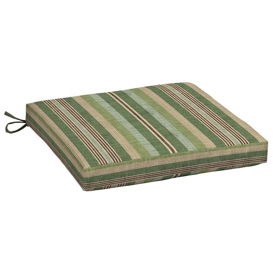 allen + roth Green Stripe Seat Pad For Universal