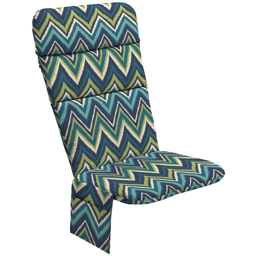 Garden Treasures Blue Flame Stitch Geometric Cushion For Adirondack Chair