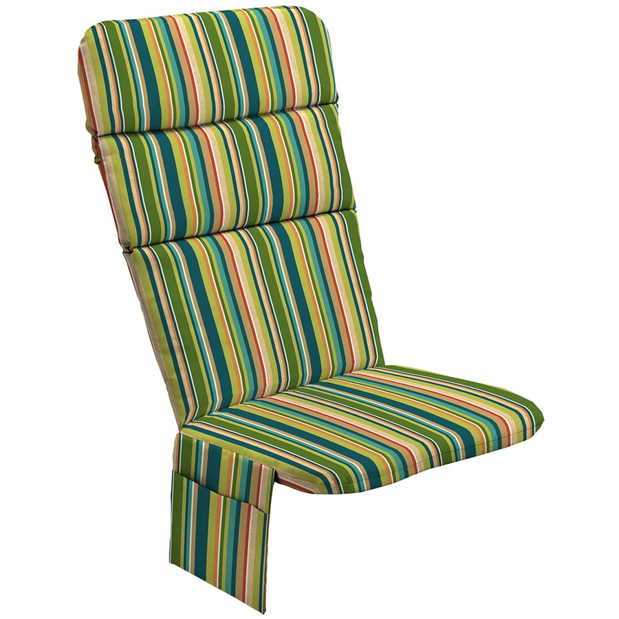 Garden Treasures Bloomery Stripe Cushion For Adirondack Chair