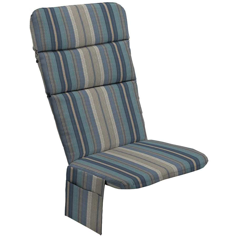 allen + roth Blue Stripe Cushion For Adirondack Chair