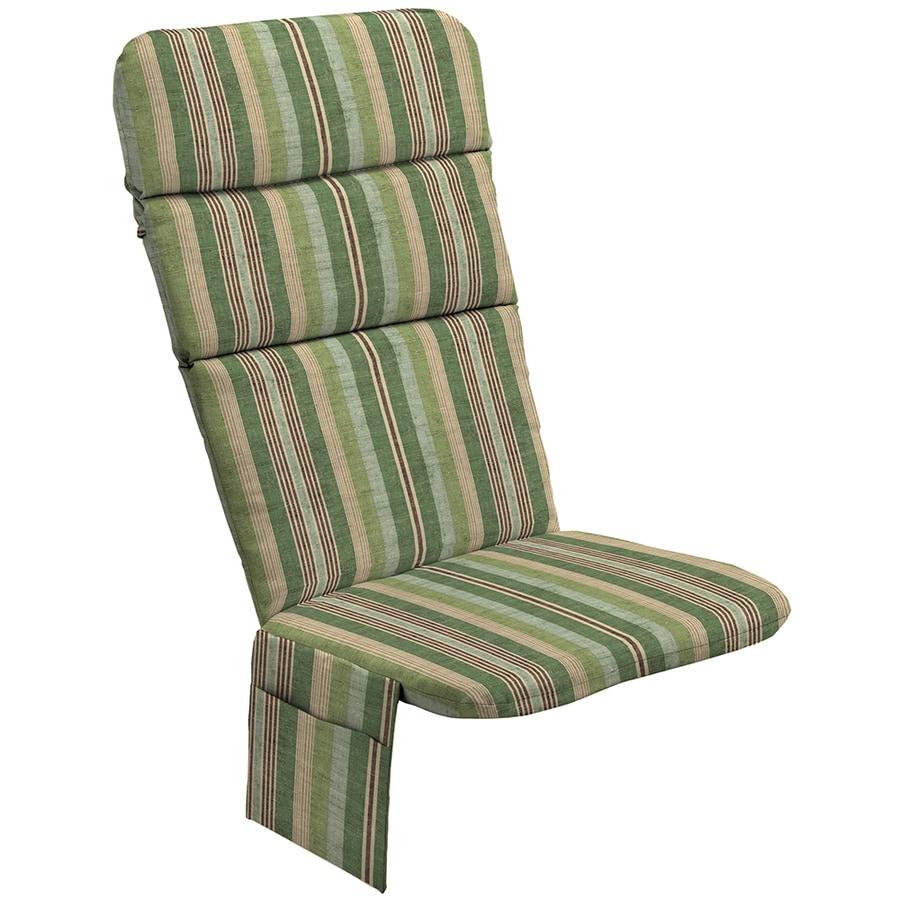 allen roth stripe green stripe standard patio chair cushion for adirondack chair