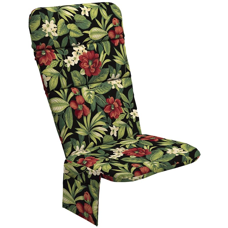 Garden Treasures Sanibel Black Tropical Tropical Standard Patio Chair Cushion for Adirondack Chair