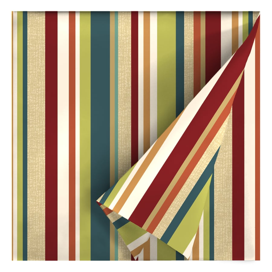Garden Treasures 54-in W Bloomery Stripe Outdoor Fabric (By-the-Yard)