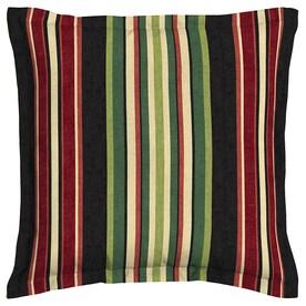 garden treasures sanibel black and striped square throw pillow outdoor decorative pillow