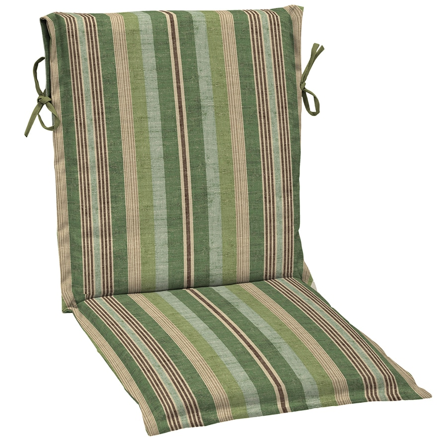 allen + roth Stripe Green Stripe Standard Patio Chair Cushion for Sling Chair