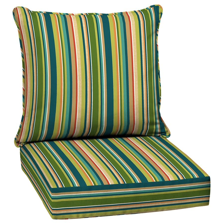 Garden Treasures Bloomery Stripe Cushion for Deep Seat Chair