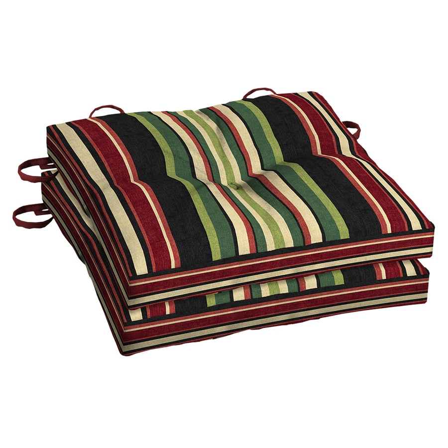 Garden Treasures Sanibel Stripe Seat Pad for Bistro Chair