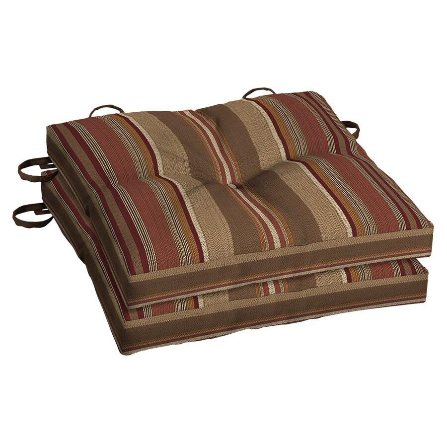 allen + roth Chili Stripe Seat Pad For Bistro Chair
