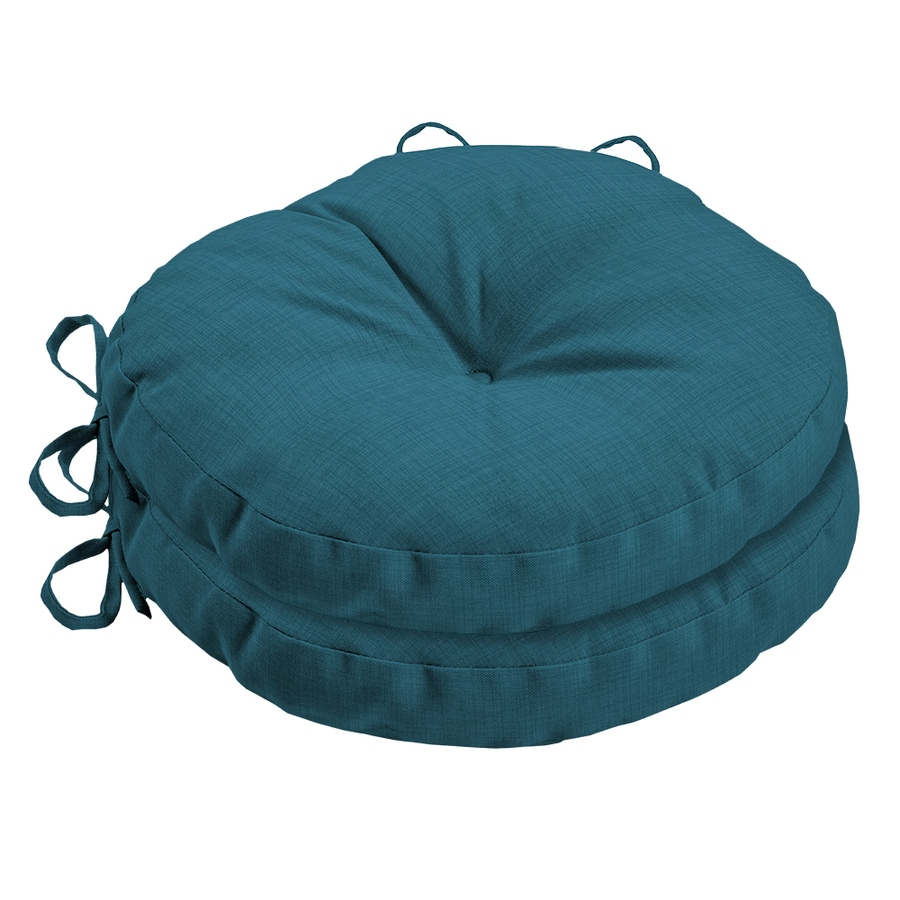 Garden Treasures Blue Flame Texture Solid Seat Pad For Bistro Chair