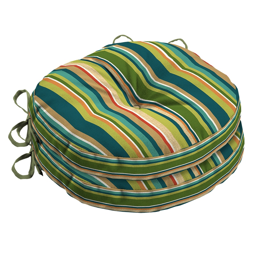 Garden Treasures Bloomery Stripe Seat Pad for Bistro Chair