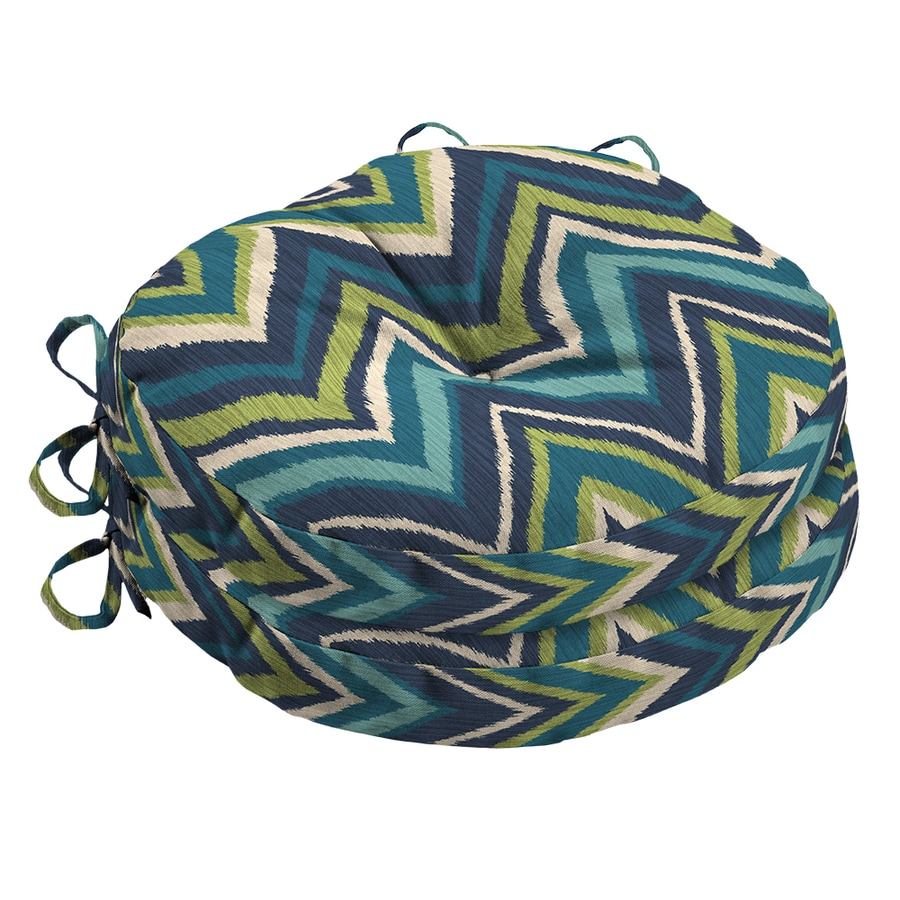 Garden Treasures Geometric Blue Flame Stitch Universal Seat Pad