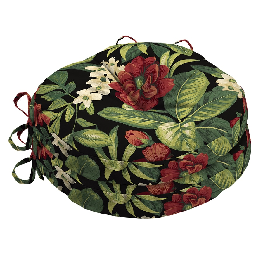 Garden Treasures Tropical Sanibel Black Tropical Universal Seat Pad