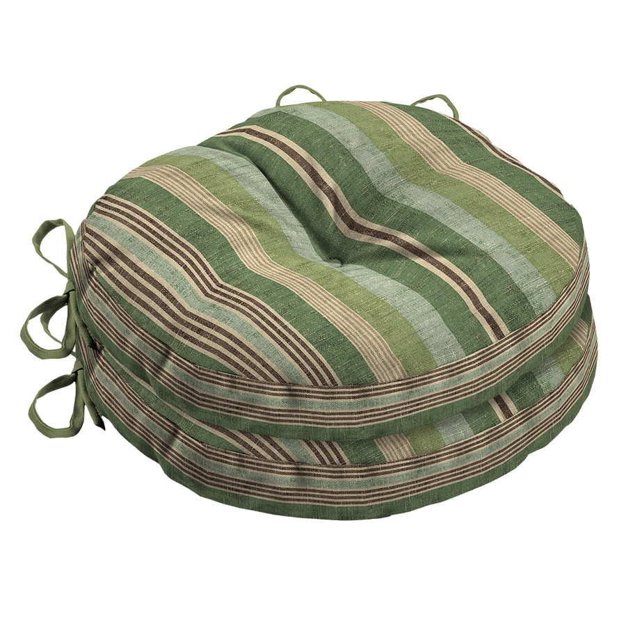 allen + roth 2-Piece Stripe Green Seat Pad