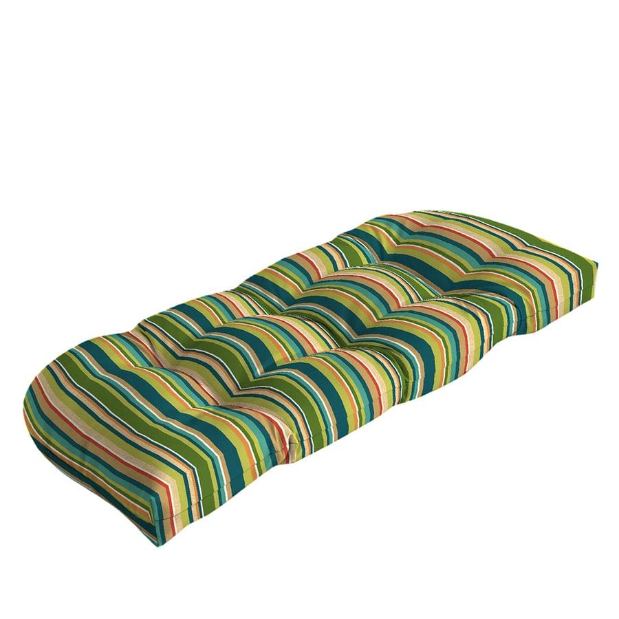 Garden Treasures Bloomery Stripe Cushion For Loveseat