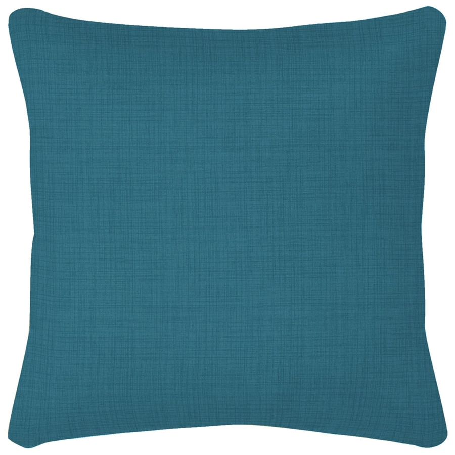 Garden Treasures Blue Flame Texture Solid Square Throw Outdoor Decorative Pillow