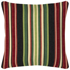 Charming Garden Treasures Sanibel Black And Striped Square Throw Pillow Outdoor  Decorative Pillow