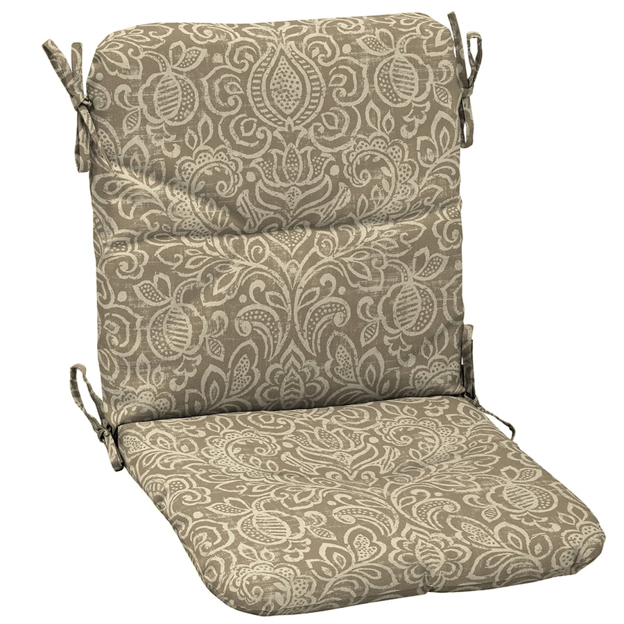 Garden treasures neutral stencil paisley standard patio - Garden treasures replacement cushions ...