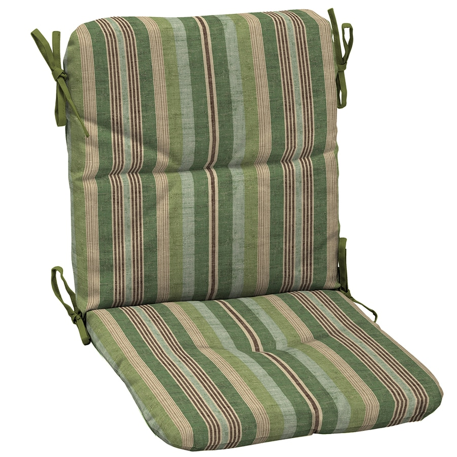 Shop garden treasures green stripe cushion for universal - Garden treasures replacement cushions ...