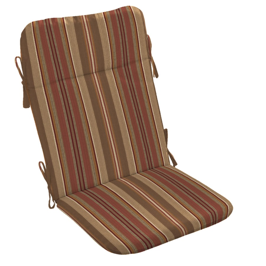 allen + roth Stripe Chili Stripe Standard Patio Chair Cushion for Adirondack Chair