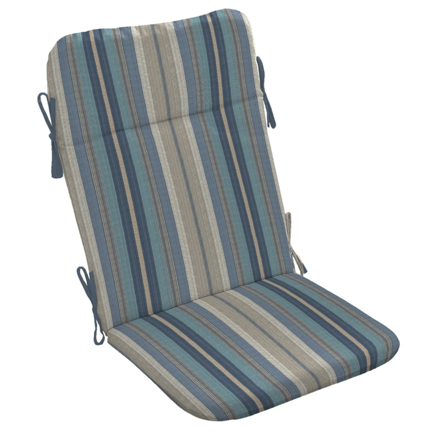 allen + roth Stripe Blue Stripe Standard Patio Chair Cushion for Adirondack Chair