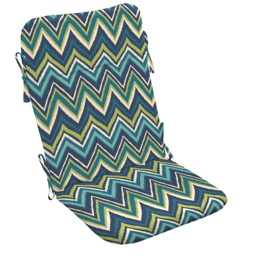 Garden Treasures Blue Flame Stitch Geometric Standard Patio Chair Cushion for Adirondack Chair