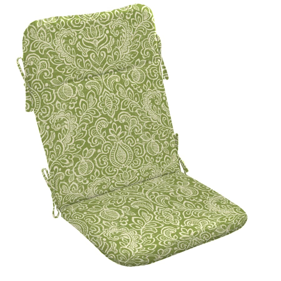 Garden Treasures Green Stencil Paisley Standard Patio Chair Cushion for Adirondack Chair
