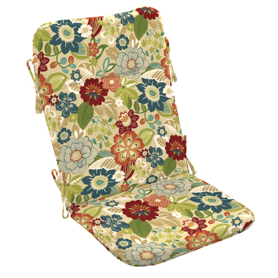 Garden Treasures Bloomery Floral Cushion For Adirondack Chair