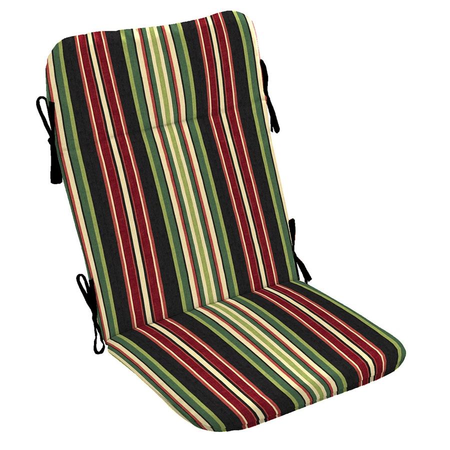 Garden Treasures Sanibel Black Stripe Standard Patio Chair Cushion for Adirondack Chair