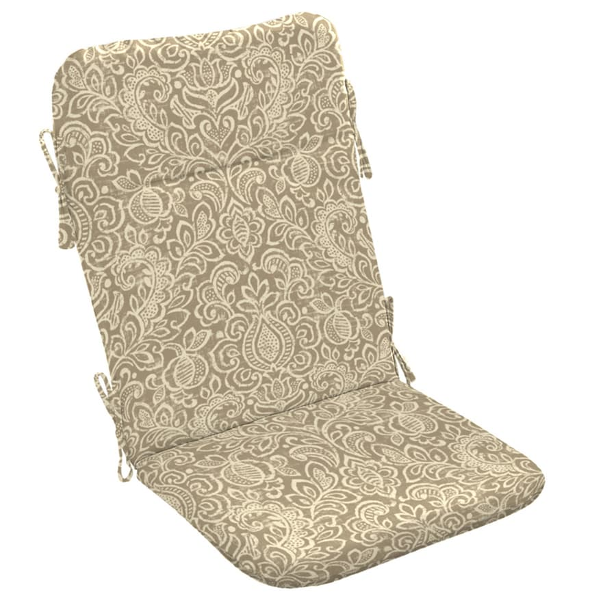 Garden Treasures Neutral Stencil Paisley Cushion For Adirondack Chair