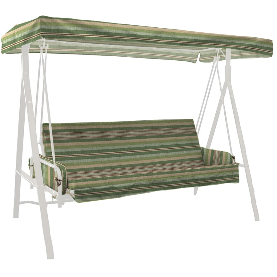 allen + roth Green Stripe Cushion For Glider