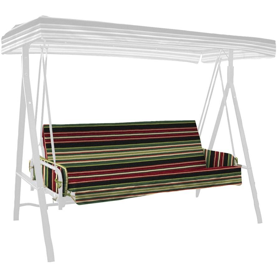 Garden Treasures Sanibel Black Stripe Stripe Glider Cushion for Glider