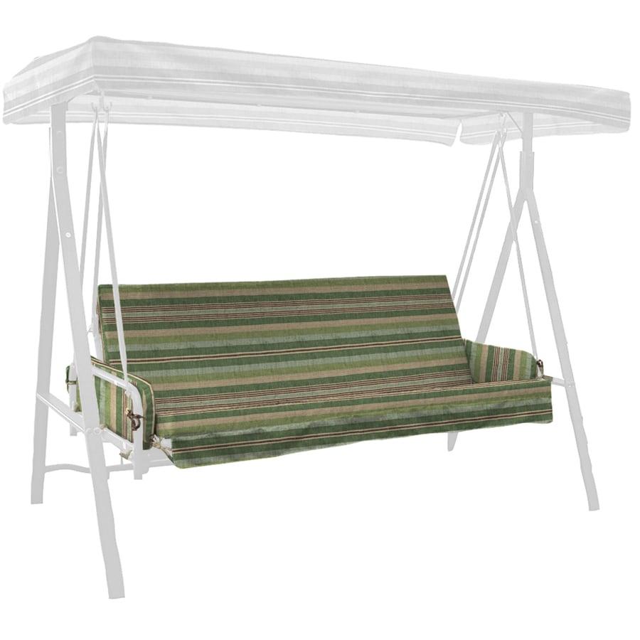 allen + roth Green Stripe Cushion For Glider