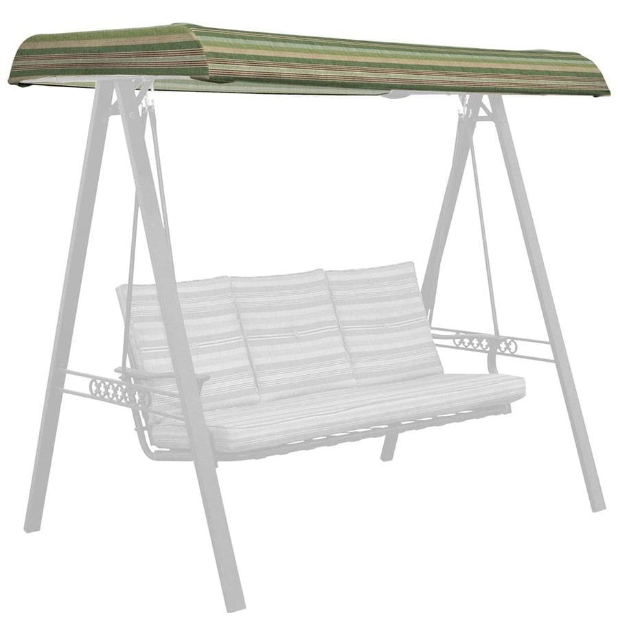 allen roth stripe green porch swing canopy