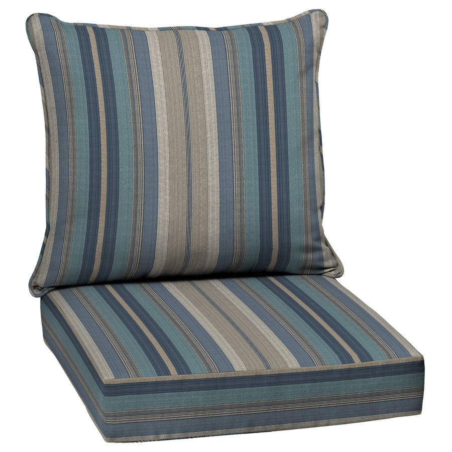Shop allen roth 2Piece Deep Seat Patio Chair Cushion at Lowescom