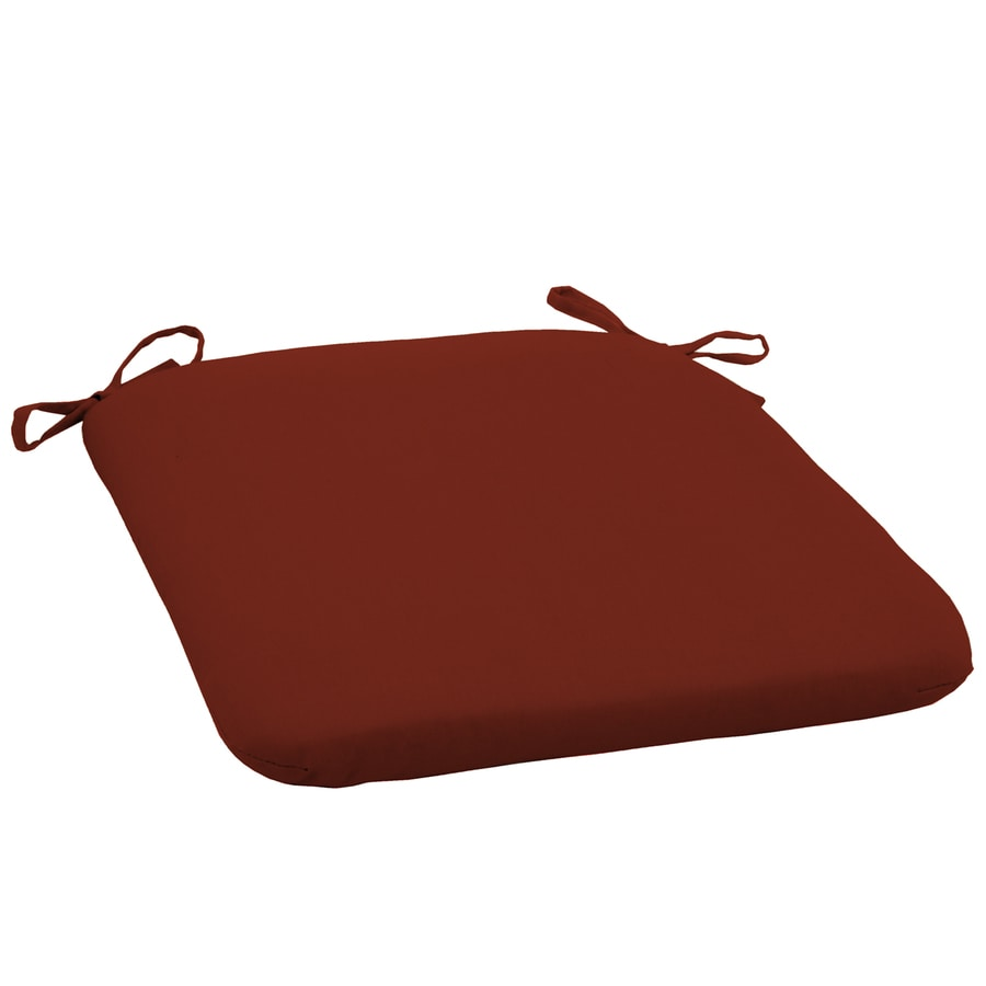 Garden Treasures Solid Red Universal Seat Pad