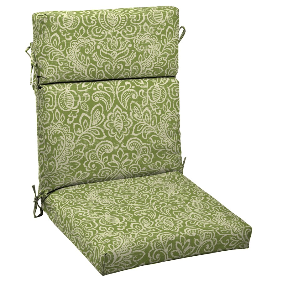 Shop garden treasures floral cushion for universal at for Lowes garden treasures