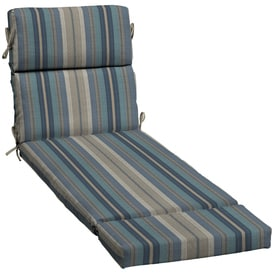 Allen + Roth Stripe Blue Stripe Standard Patio Chair Cushion For Chaise  Lounge