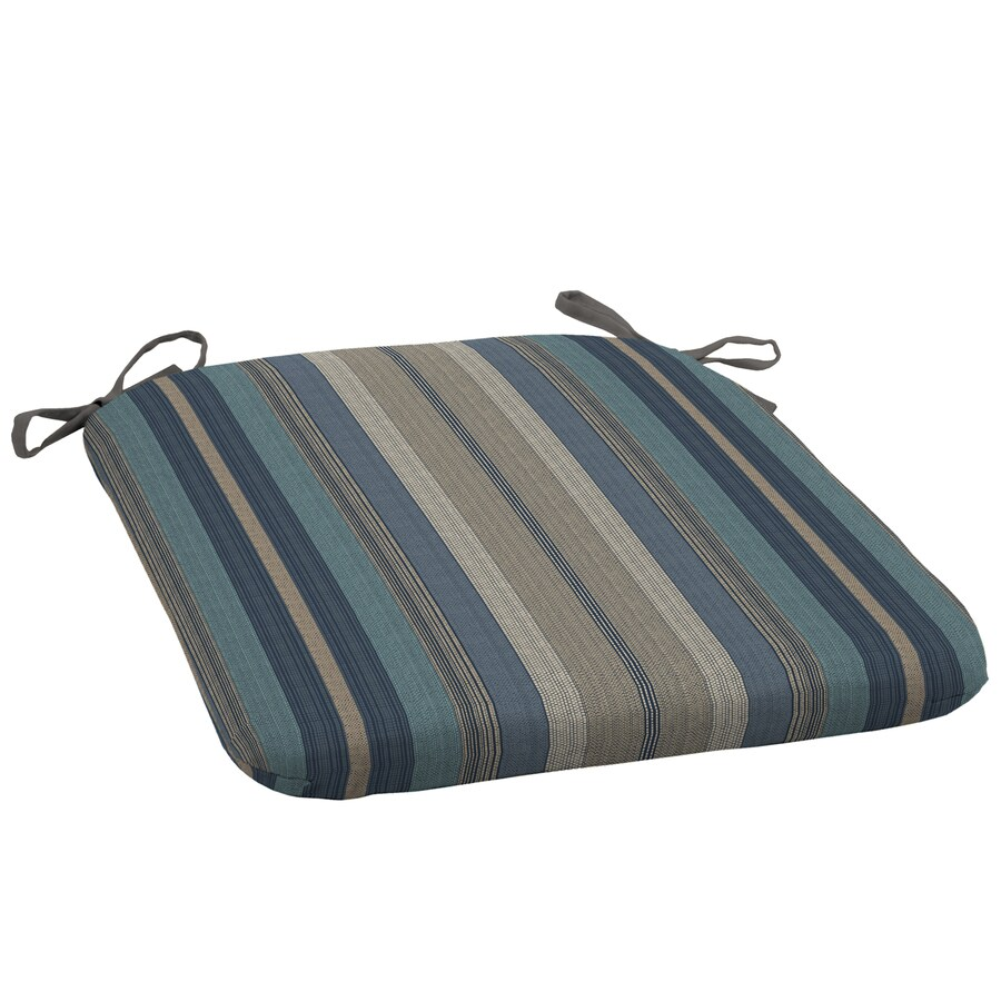 allen + roth Stripe Blue Stripe Seat Pad for Universal