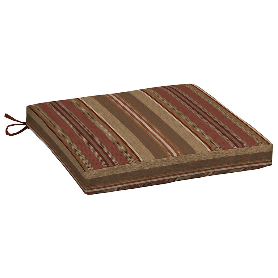 allen + roth Chili Stripe Seat Pad For Universal