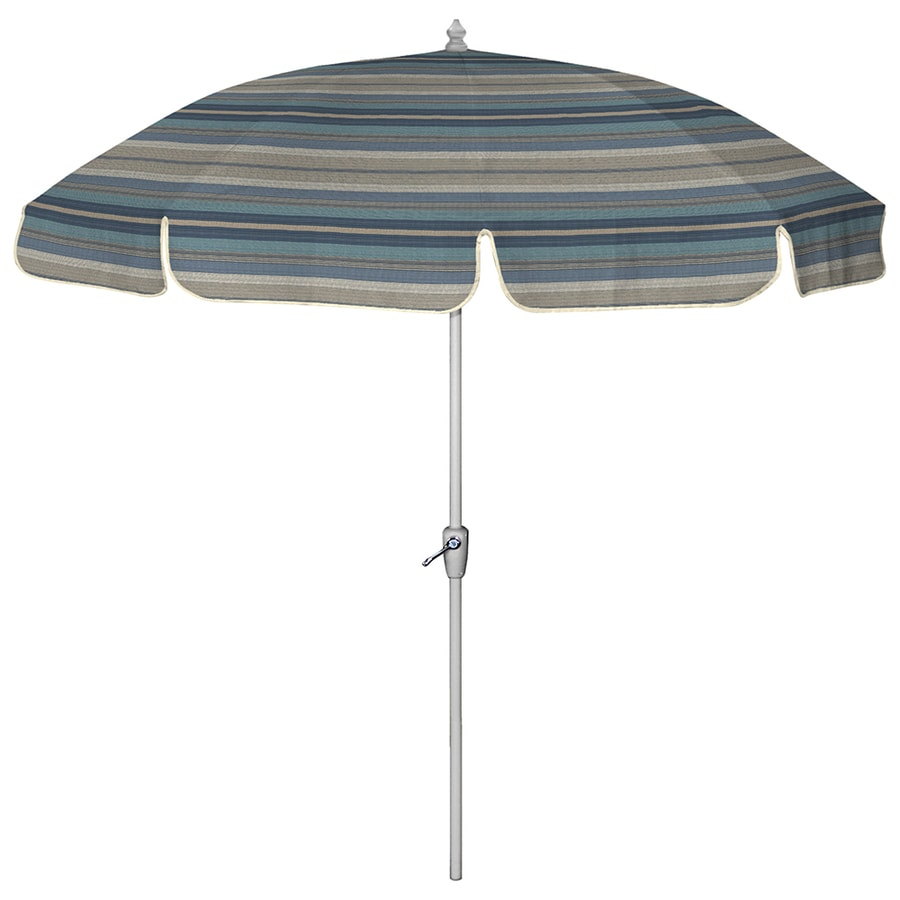 Arden Outdoor Round Blue Patio Umbrella With Tilt And Crank (Actual: 7.5