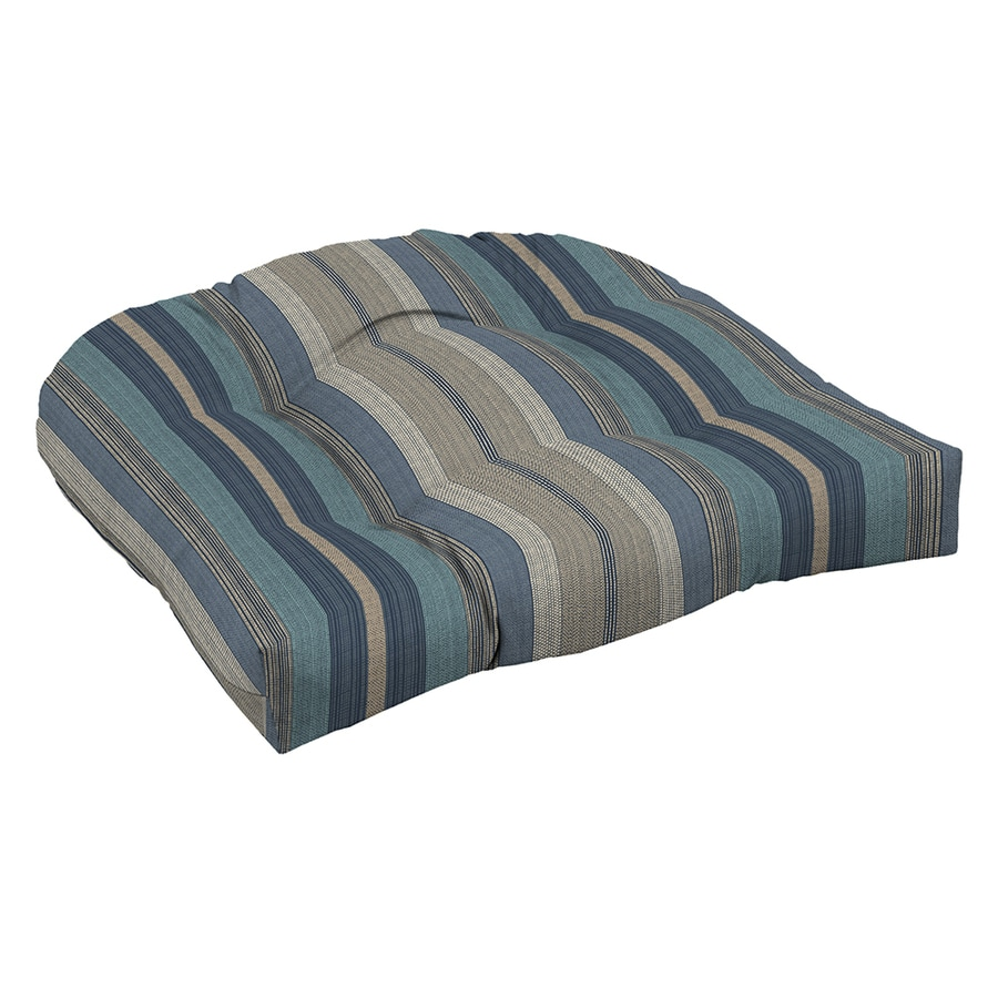 allen + roth Blue Stripe Cushion For Universal