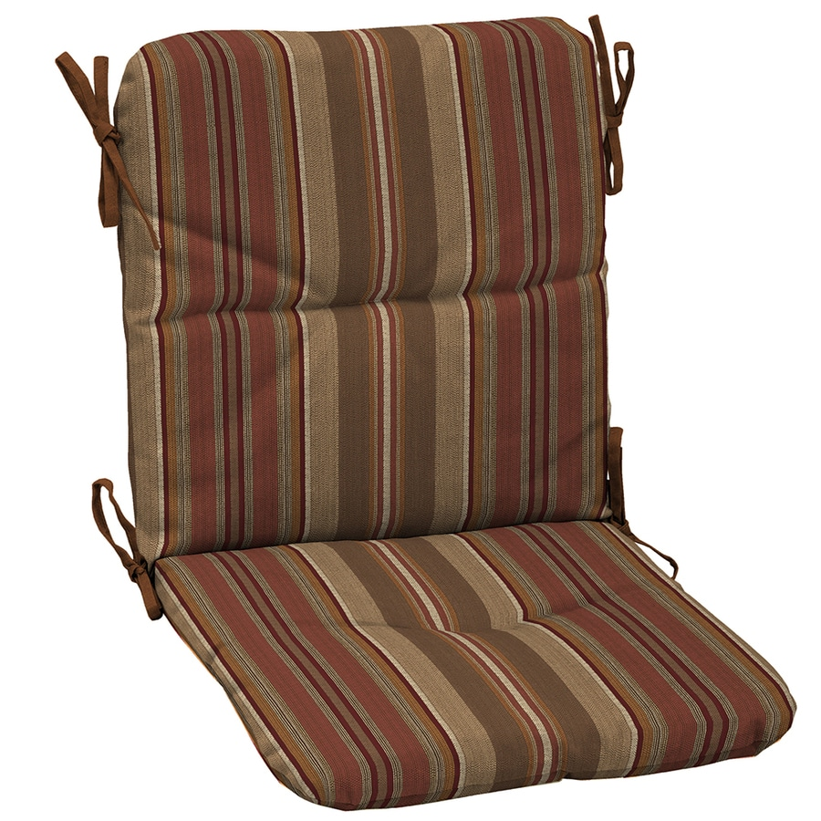 allen + roth Stripe Chili Stripe Cushion for High-Back Chair