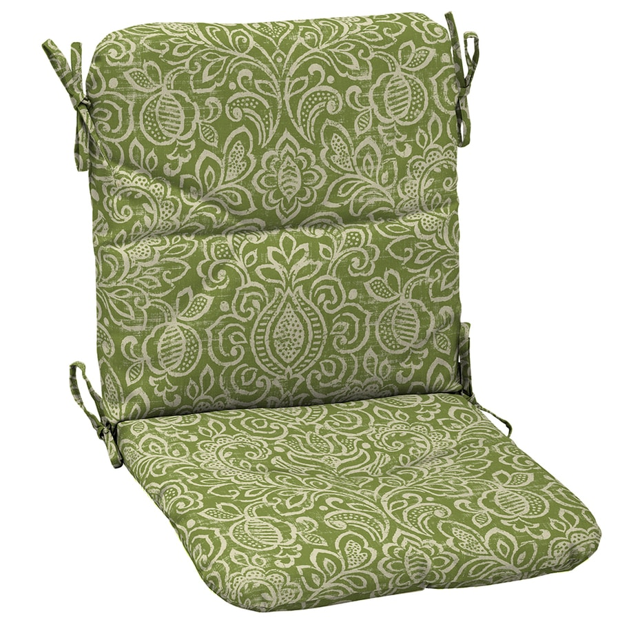 Garden treasures green stencil paisley standard patio - Garden treasures replacement cushions ...