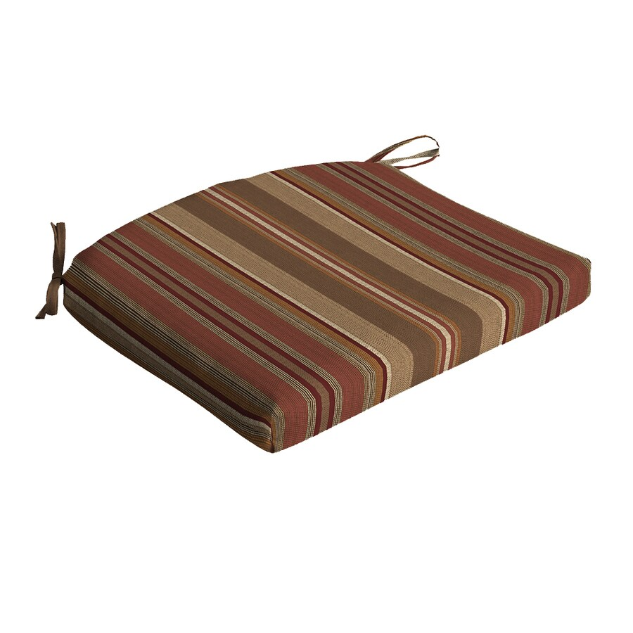 allen + roth Striped Chili Universal Seat Pad